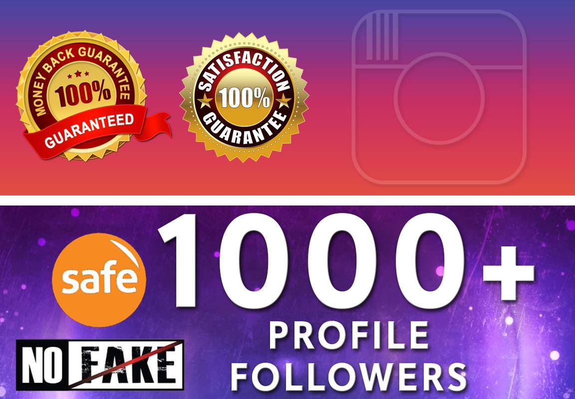 Get 1000+ Social Profile Followers very High Quality