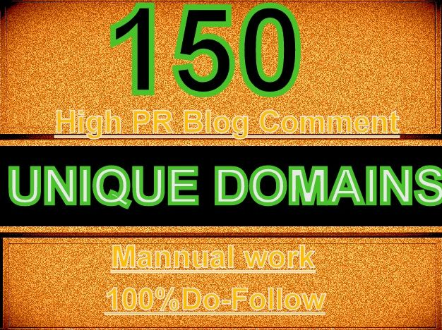DO 150 unique domain dofollow blog comments backlinks DA PA