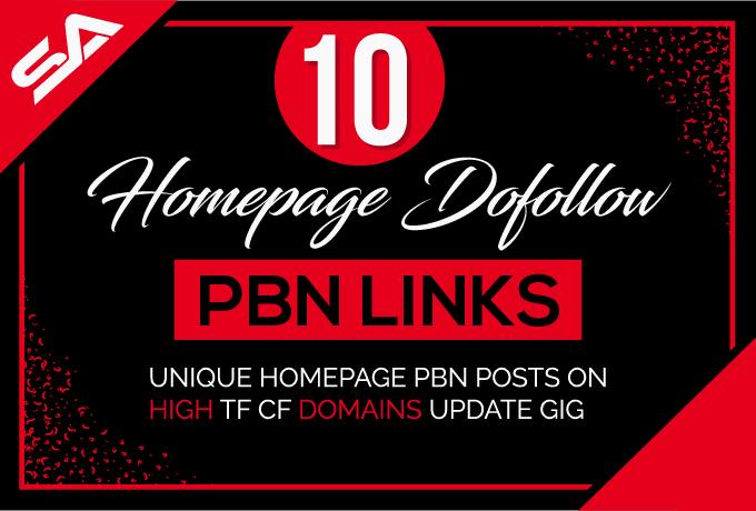 Build 10 Pbn Links Da 5 Plus Homepage Dofollow Pbn Li...