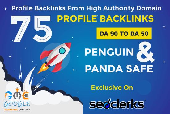 Build Unique 75 Permanent Seo Backlinks On HQ Sites