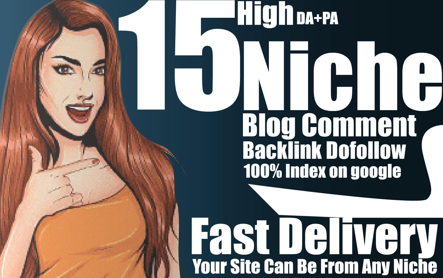 15 niche dofollow comments backlinks