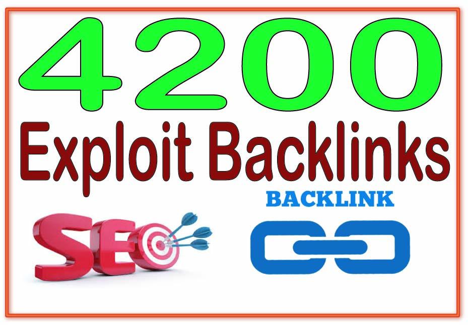Provide 4200 Exploit High PR Metrics Backlinks