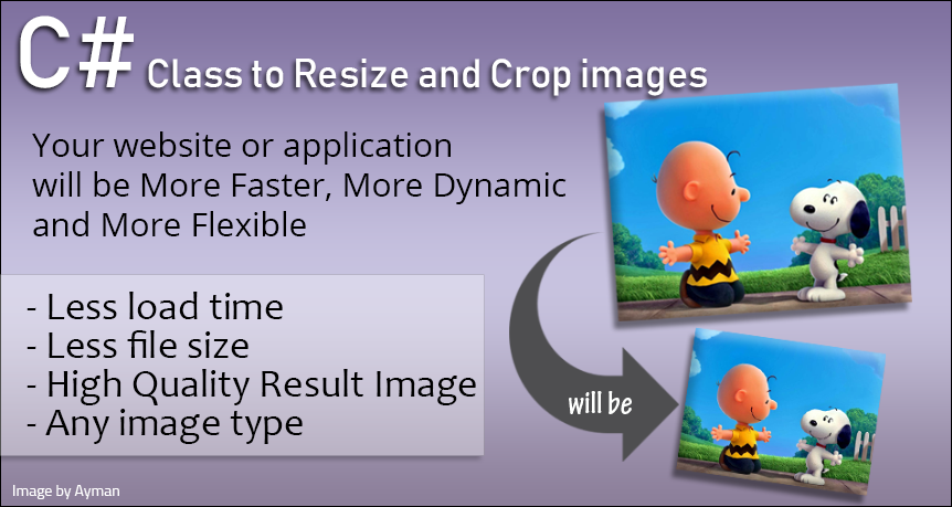 Resize and crop images - high end quality C Sharp Class