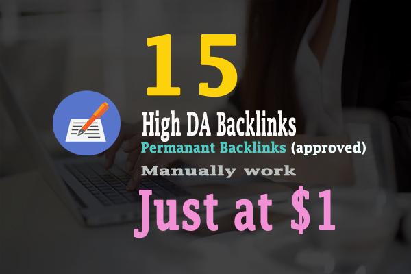 Google Top Ranking - 15 High Authority Backlinks DA90...