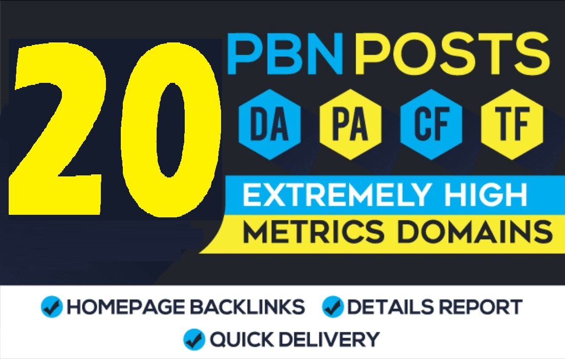 20 PA60 DA30 Permanent PBN HomePage Links