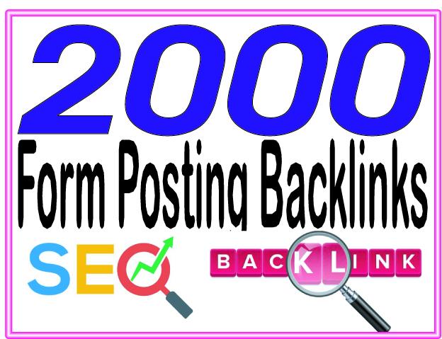 Provide 2000 Forums Posting High PR Metrics Backlinks