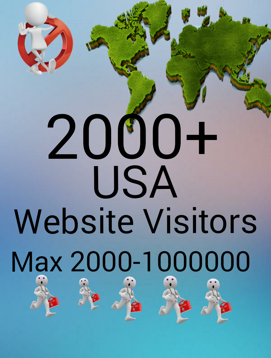 Give you real 5000+ USA Website Visitors Instant