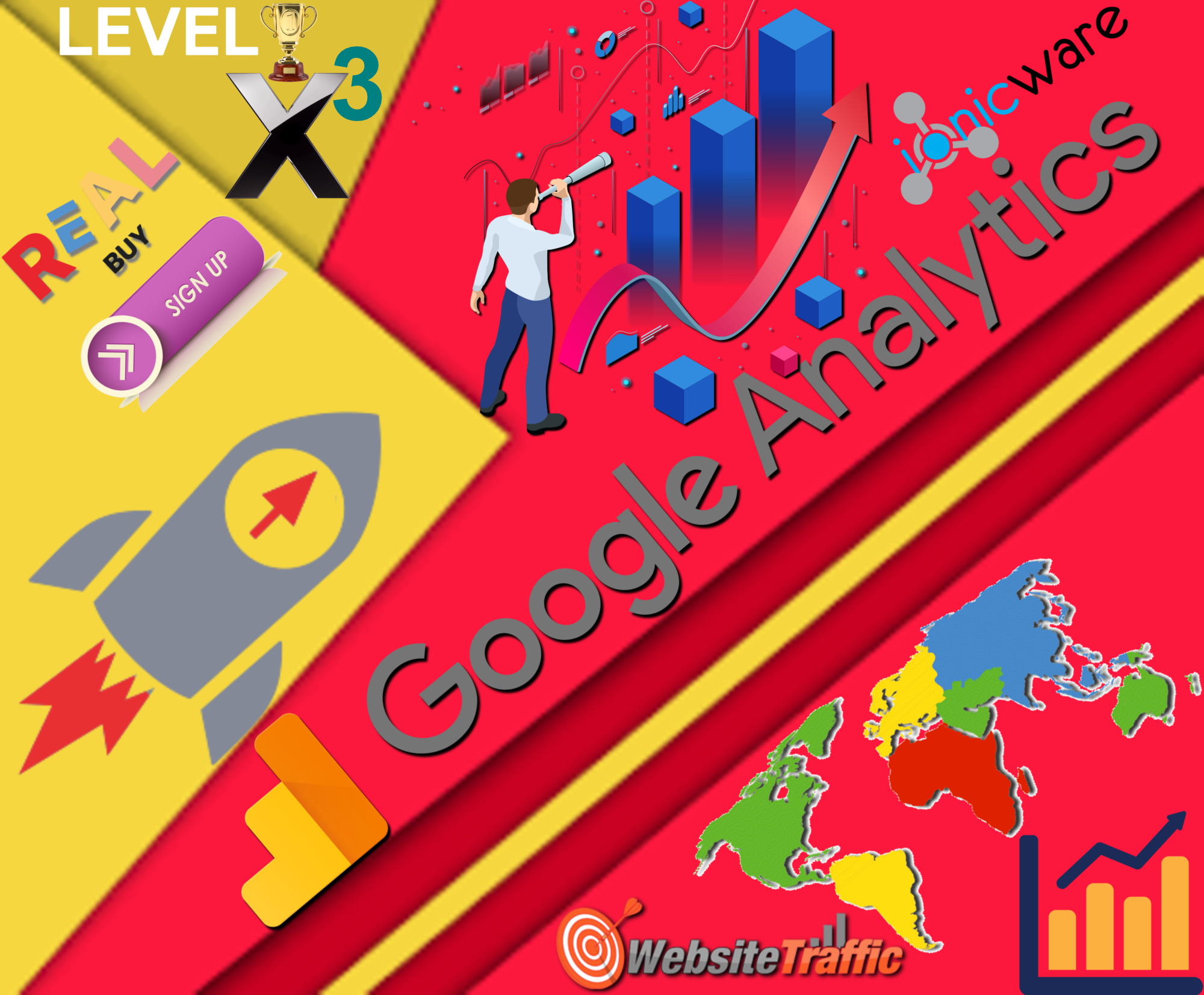 500,000 Worldwide USA Target Countries Google Analytics Website Traffic Visitors 500 Referral CPA Affiliate Sign ups