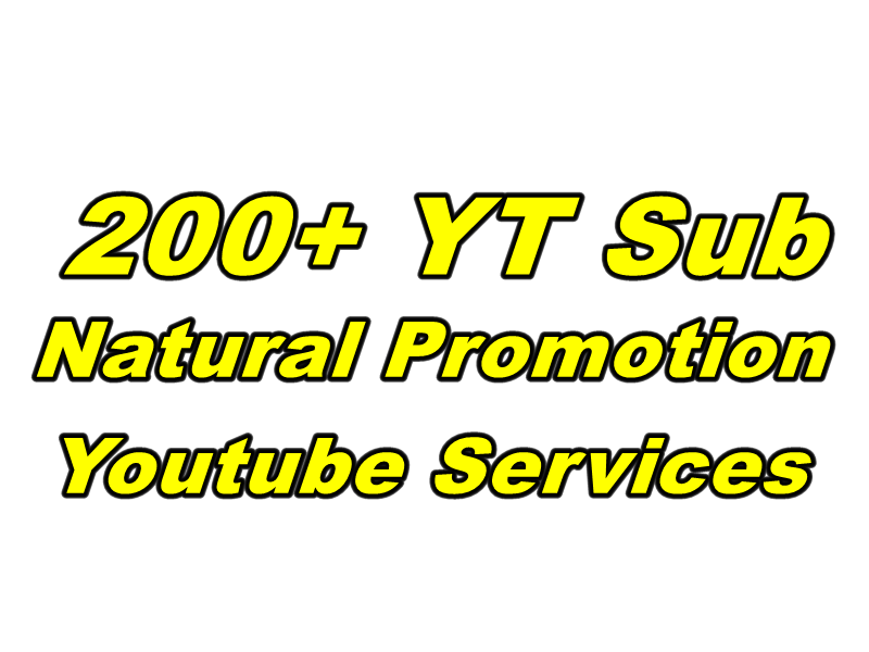 Give You 200+ YT Sub ReaL Only Natural Promotion Youtube Services Fast Delivery
