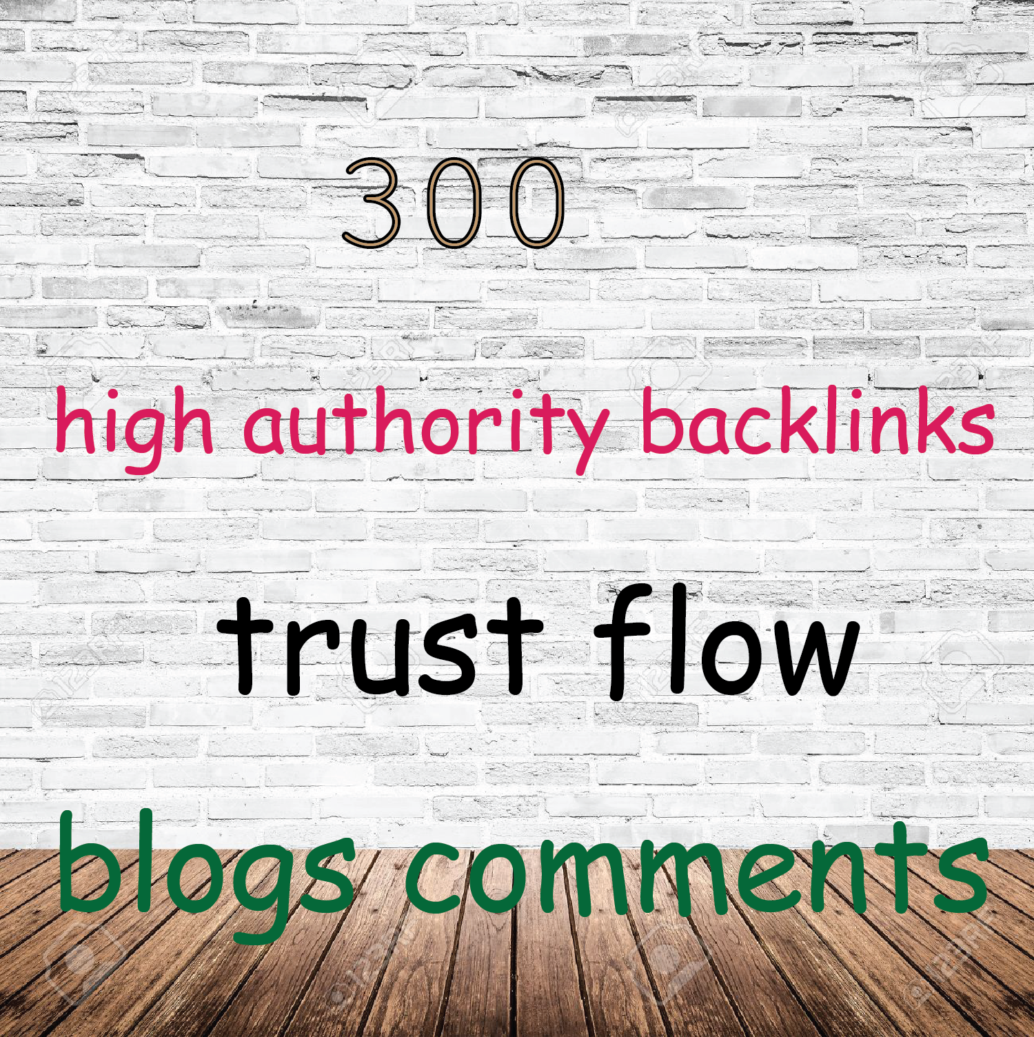 I do 300 high authority do follow BLOG COMMENTS