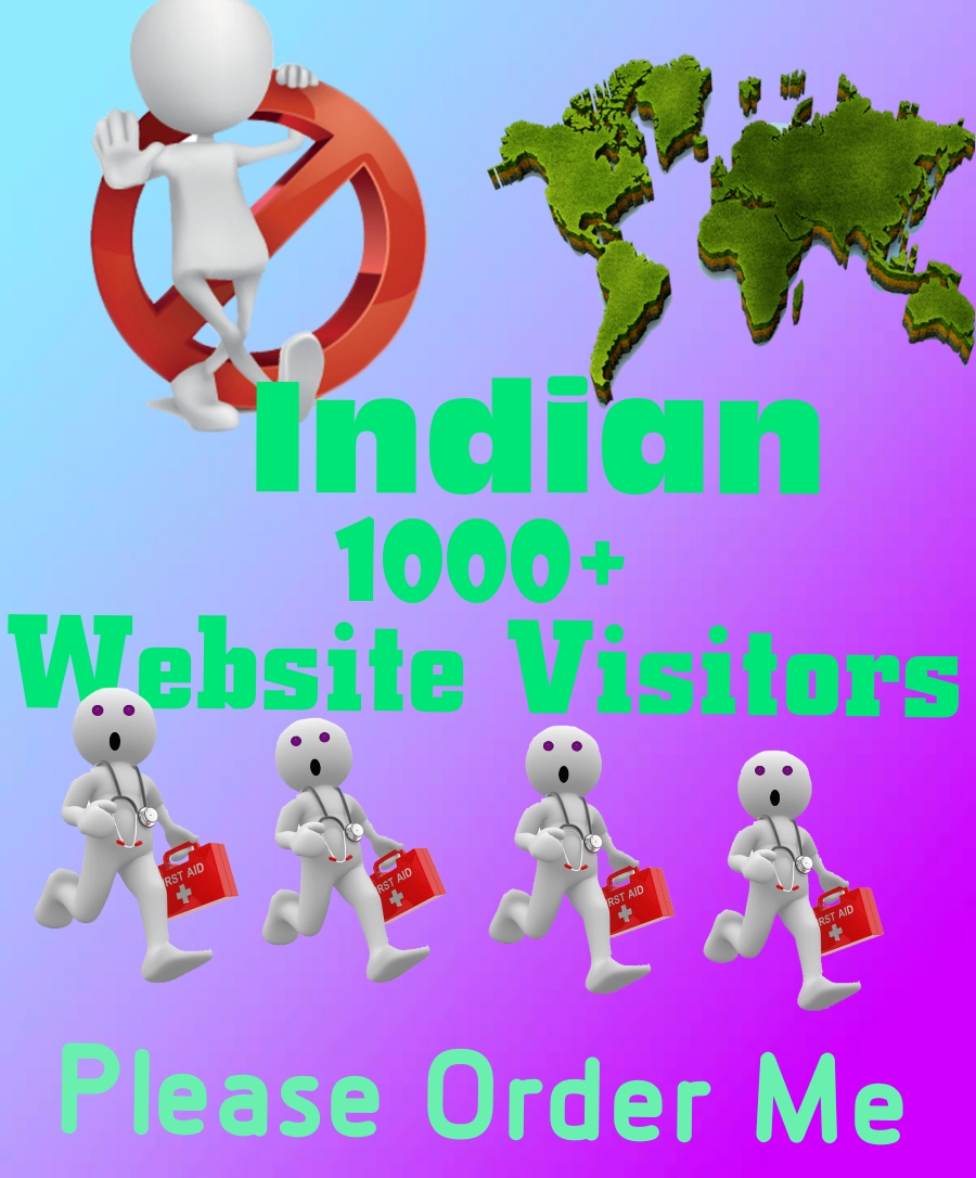 give you real 5000+ Indian traffic or website visitors on your website or blog