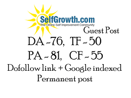 Publish Article On Selfgrowth With Google Index