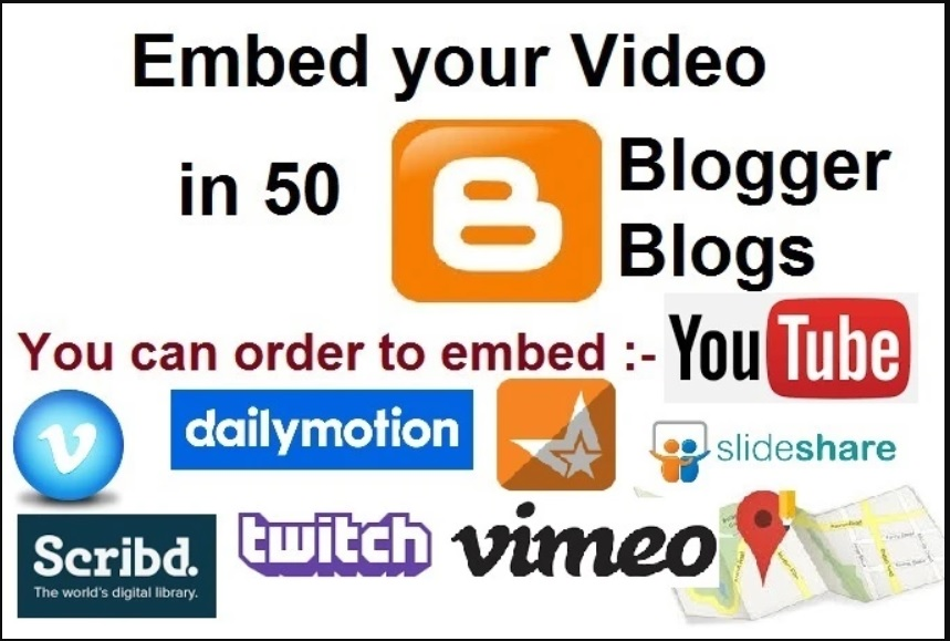 Embed Your Video In 50 Blogger Blogs