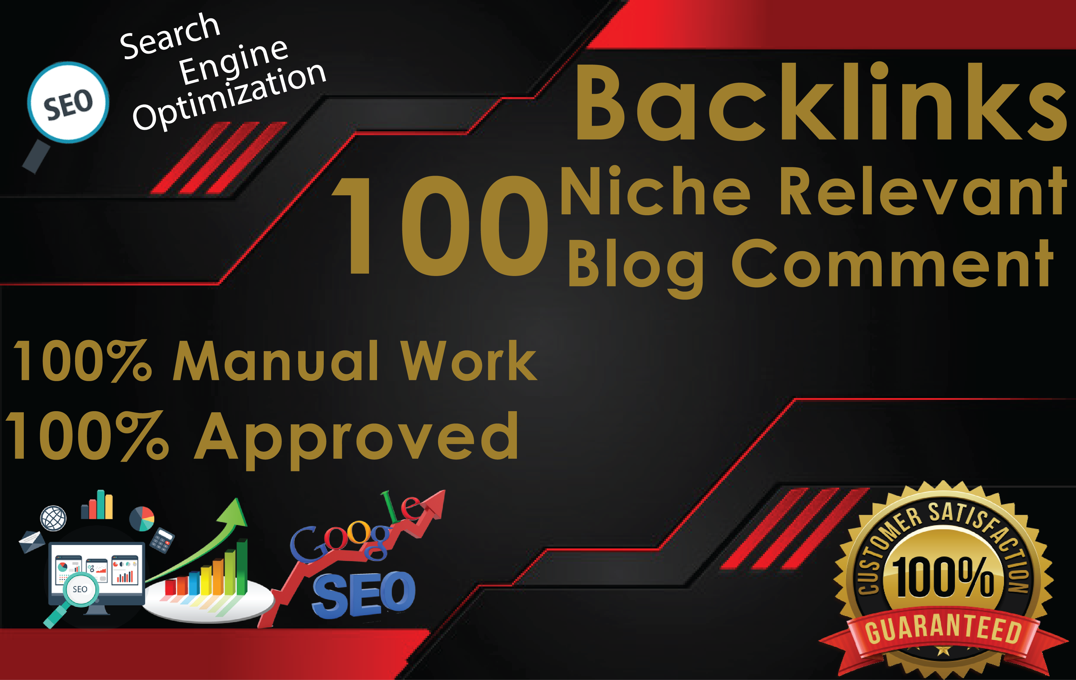 100 Niche Relevant Backlinks Manual Blog Comments