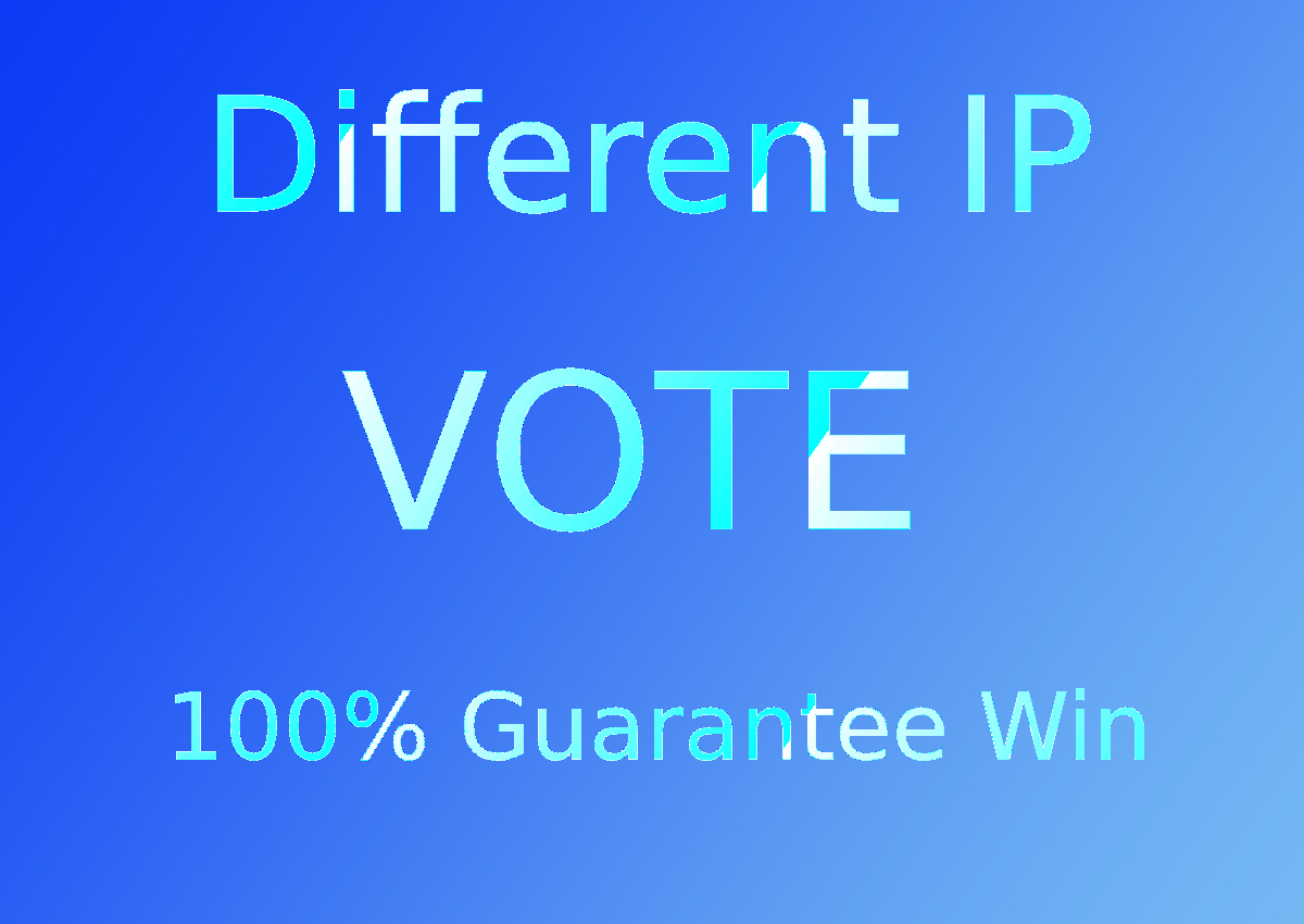 Give You 150 USA Different IP, s Online Contest Votes