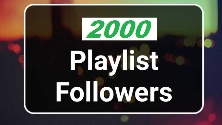 Get Manually 2000 Playlist Artist Profile Followers
