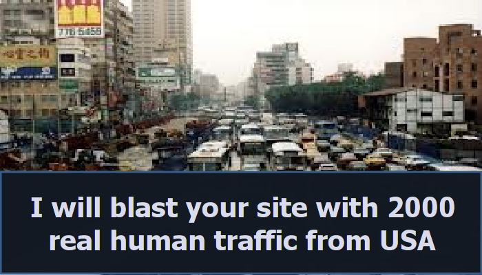 blast your website or blog with 2000 real human traffic just