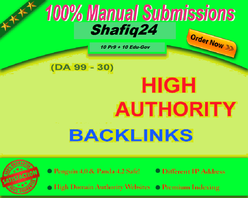 40 PR9 DA 70-100 SEO Backlinks High Trust Authority Domain Permanent Links SERP Results