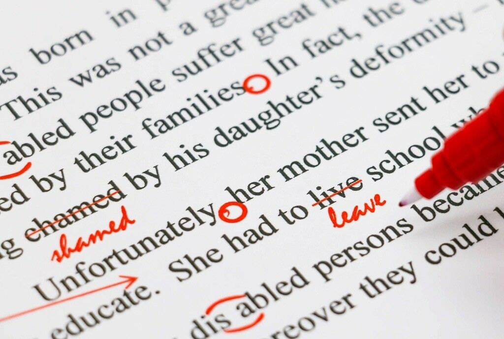 Proofreading Essays, emails and documents