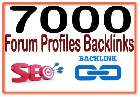 Create 7000 Forum profiles Highly Authorized Google Dominating Backlinks