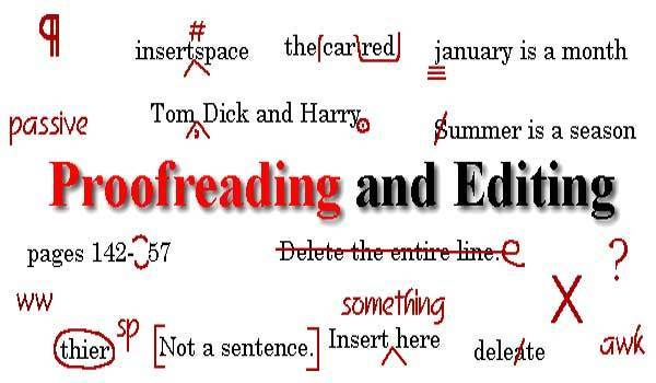 proofreading and editing any document (English, Arbic & Urdu) up to 1000 words in a day
