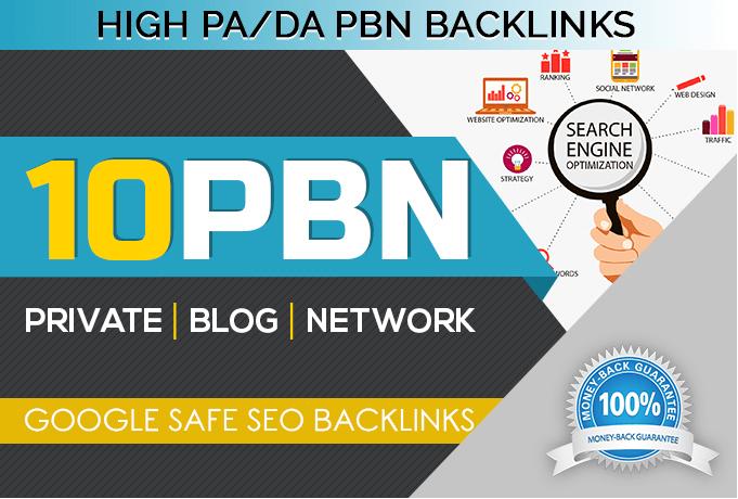 Create 10 PBN Links on High TF/DA domain Quality Back...