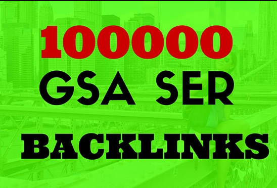 Rank on Google 1st Page with 1000000 GSA Backlink