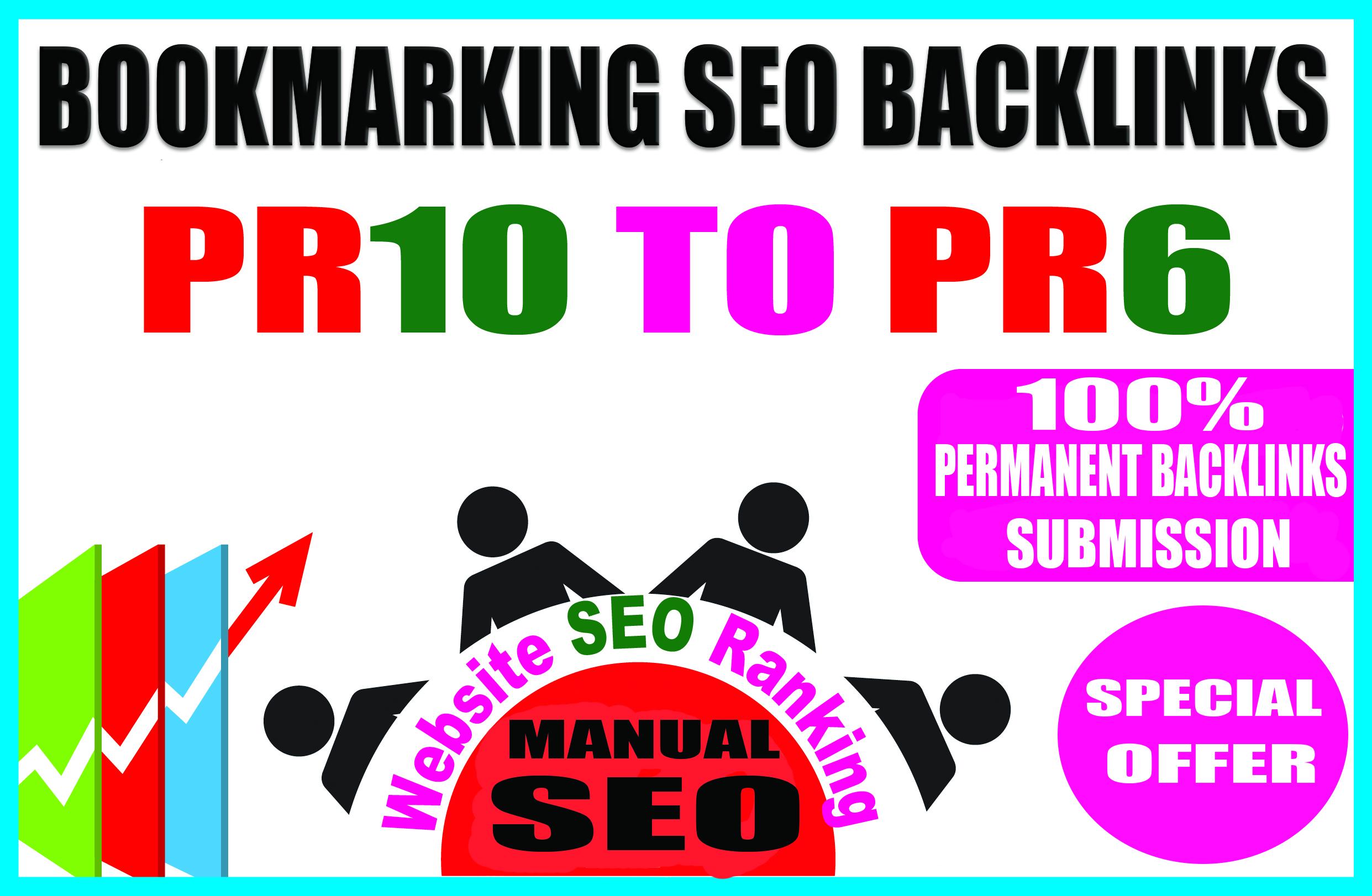 Create Top 50 Manual Social Bookmarking Backlinks
