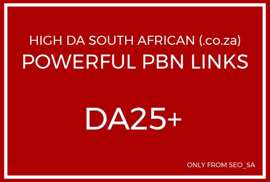 Manually Create 5 x Unique Domain High DA/PA South Af...