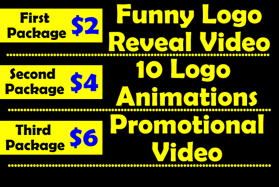 Do 10 Logo Animations and Promo video