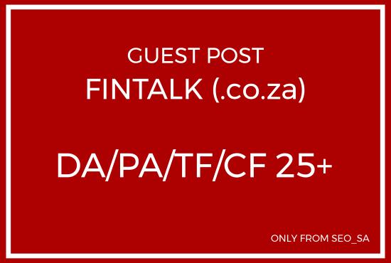 Manually Create Guest Post on FinTalk. co. za
