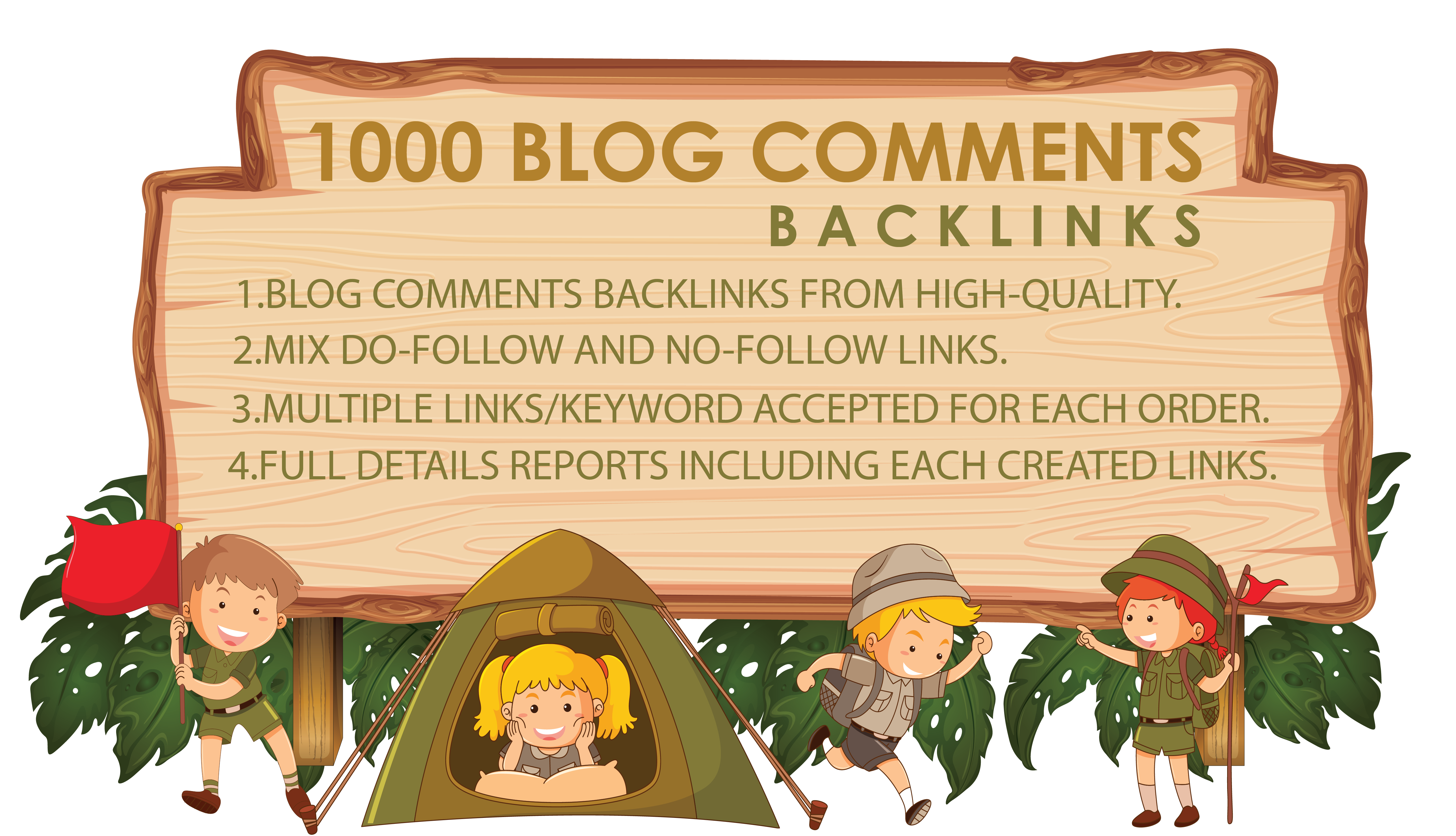 Provide 1000 Blog Comments Backlinks From High Qualit...