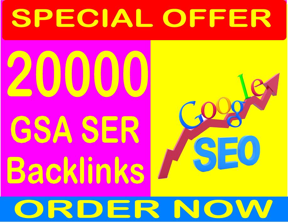 200,000 GSA SER SEO Backlinks