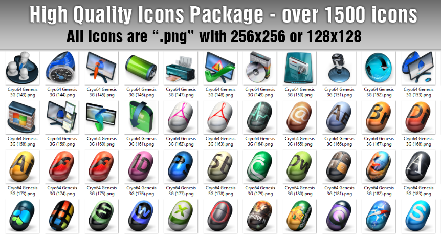 High Quality Icons Package For Your Website or Application - over 1500 icons