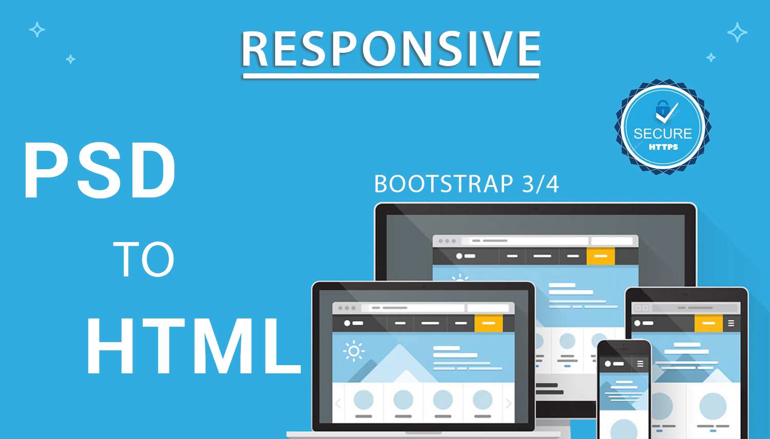 Convert Psd To Responsive Html with Bootstrap