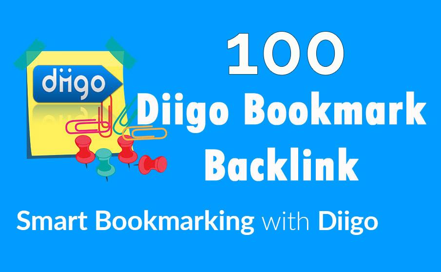 Diigo High Quality 100 Bookmark backlink PR8-9 Google 1