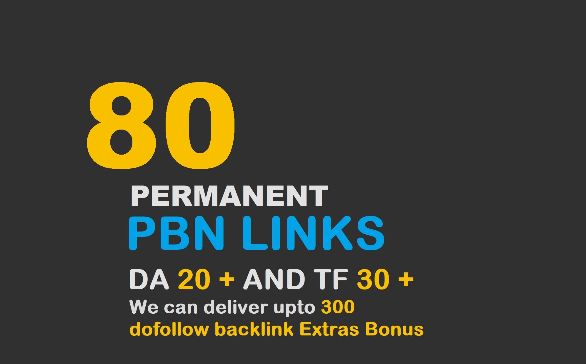 80 High Metrics PBN Posts Contextual Backlinks