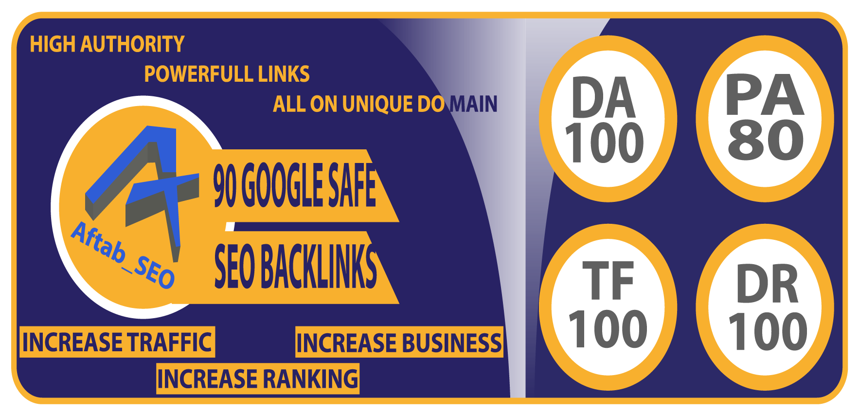 Seo All In One 90 High Authority Unique Domain Do-follow Backlinks On TF DA Sites