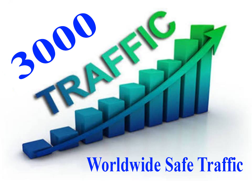 We Send 3000+ Safe Visitors/ Traffic to your website Or Any Link