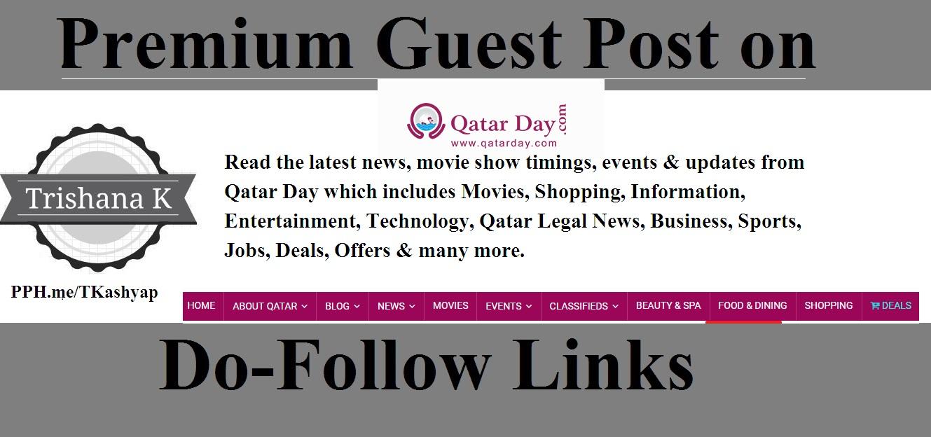 Guest Post on Qatar News Site Qatarday. com - Qatarday DA 42