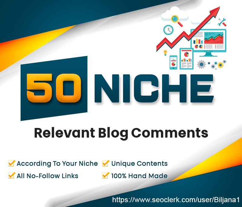 Get 50 High Quality Niche Relevant Manually Blog Comm...