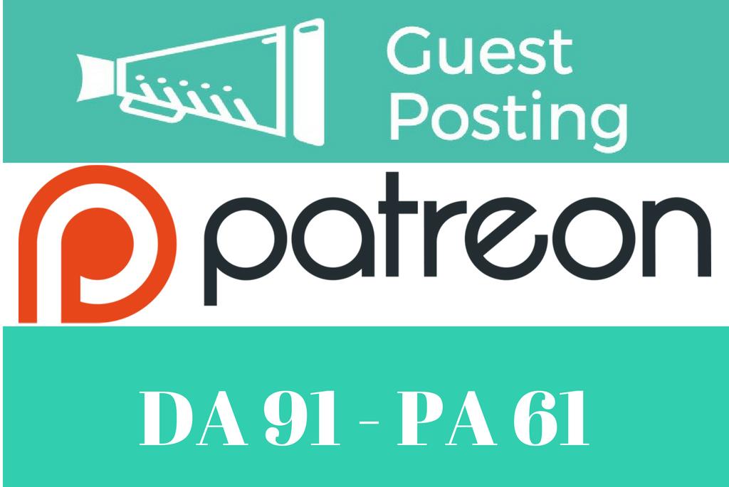 Publish Guest Post On Patreon. com DA 91