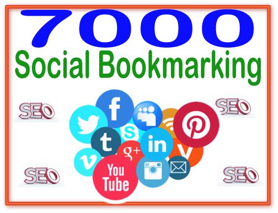 Provide 7000 Social Bookmarking High PR Metrics Backlinks
