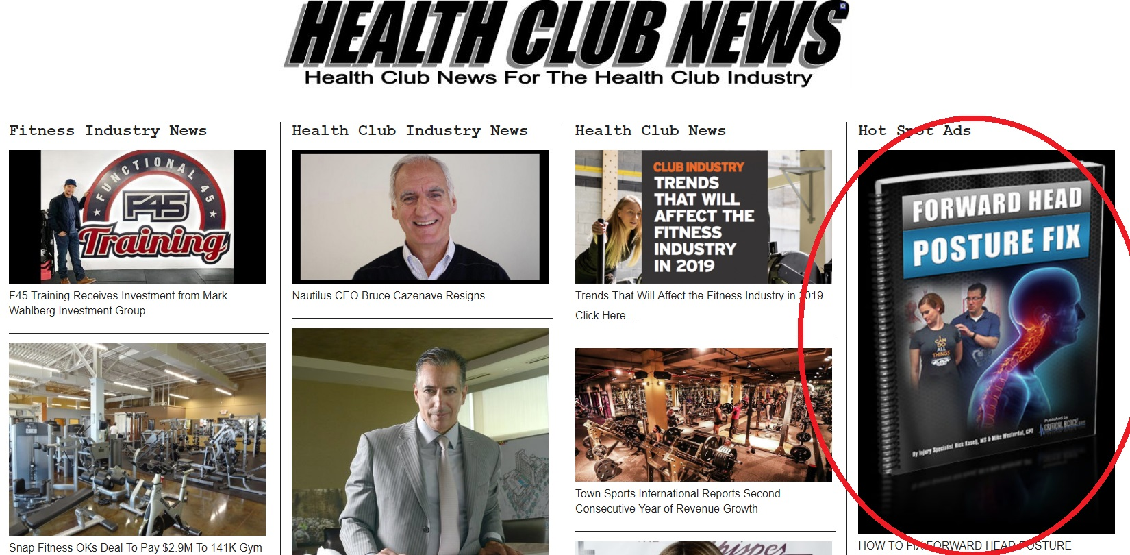 Advertise your clickbank product on Health Club News for one week