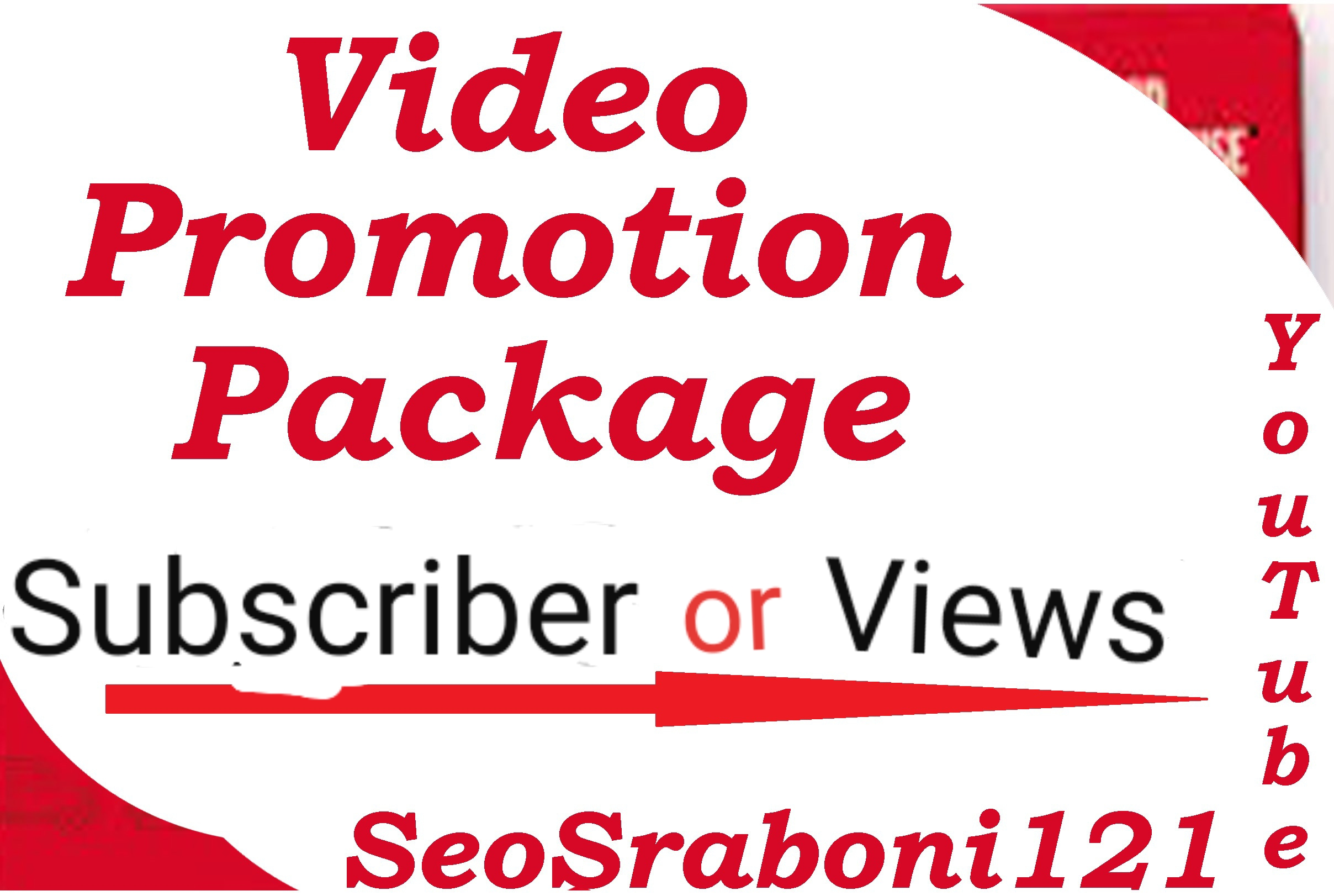 YouTube Video Promotion package Real non drop Vai-Real in your video