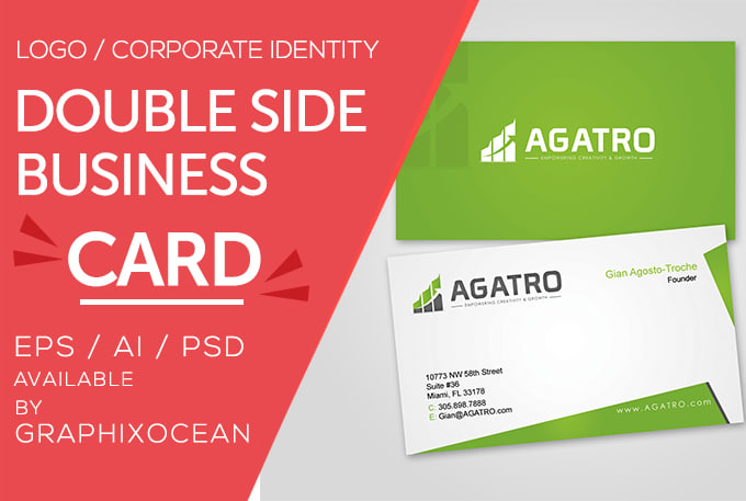 Make Impressive Double Side Business Cards And Logo