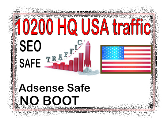 Get 10000 USA HQ traffic from social & organic web traffic from main search engines