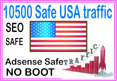 Do 10500 USA Safe Human Traffic from social & organic Web Visitors from main search engines