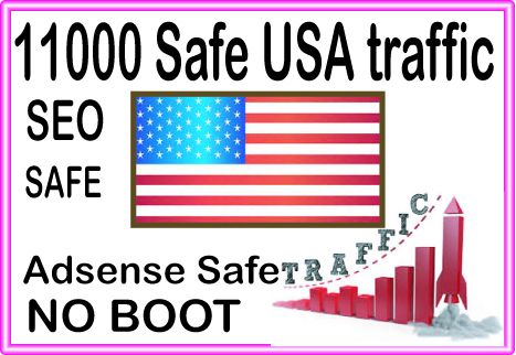 Get Safe 11000 HQ USA Human Source traffic to your Website