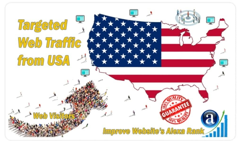 Real Web traffic visitors from USA, United States